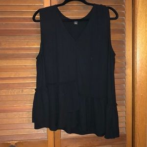 Black tank blouse